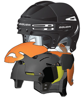 Bauer RE-AKT 75 Hockey Helmet royal (3)